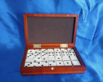 Wooden Boxed Domino Set