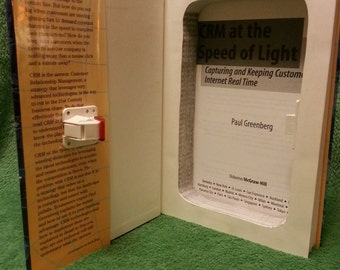 "Hollow Book Safe with Magnetic Lock ~ ""CRM At The Speed of Ligh"" by Paul Greenberg"