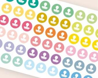 Stamp stickers, scrapbooking stickers, planner stickers, create hobby stickers, eclp filofax happy planner kikkik