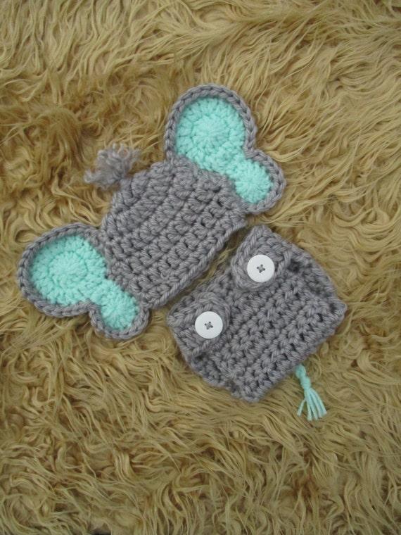 Crochet Elephant Costume Crochet Elephant Hat Diaper Cover