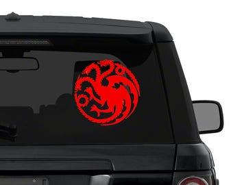 TARGARYEN Dragon Game of Thrones sigil Decal Sticker for car truck laptop CHOOSE color die cut vinyl