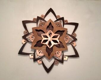 Wood and Copper Mandala