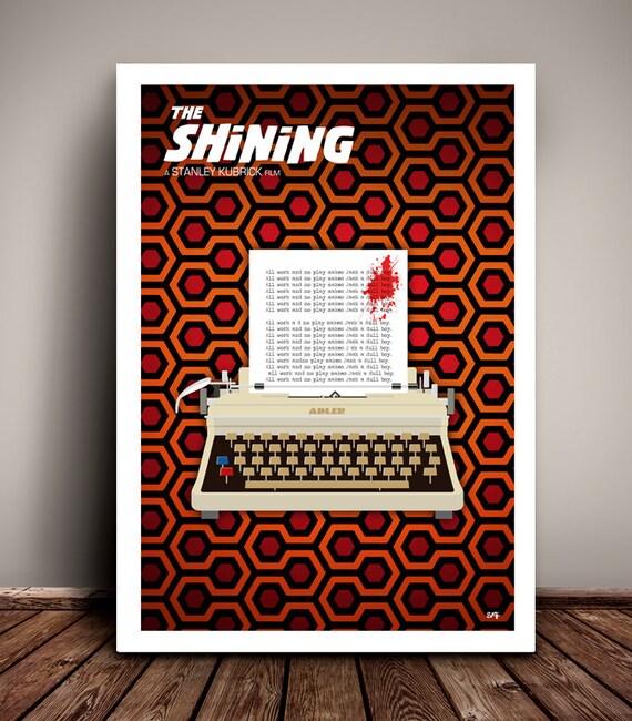 The Shining // Stanley Kubrick // Jack Nicholson // Minimalist  // Unique A4 & A3 Art Print
