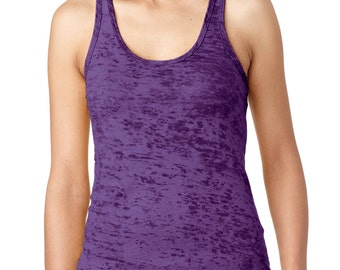 Plain Burnout racerback tank