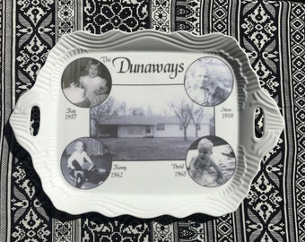Custom Serving Platter, Heirloom Platter, Custom Photo Heirloom, Custom Photo Ceramic Platter, Custom Photo Serving Dish, Homeplace Keepsake