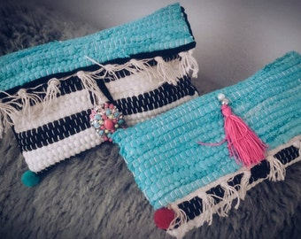 Unique Handwoven Kourelou clutch bags