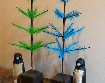 Green Goose Feather Tree