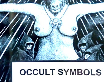 Occult Symbols Satanic Coloring Book for adults
