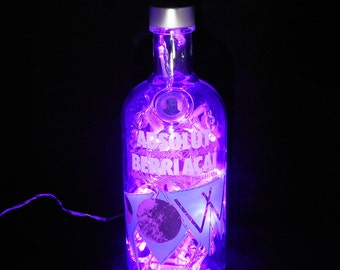 Absolut Berri Acai Bottle Light
