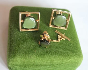 Vintage Cufflinks and Tie Pin Set 'Sarah Coventry'