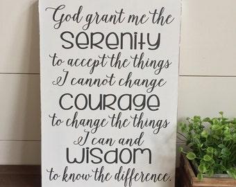 Serenity Prayer Wall Decor god grant me the serenity   etsy