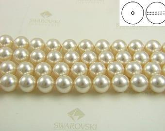 50 pieces Swarovski #5810 10mm Crystal Light Creamrose Pearls Round Beads