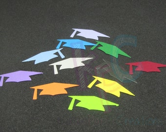 Mortarboard Graduation Cap Confetti Die Cuts for Scrapbooking or Party Decor Choice of Color Cardstock 50 Pieces