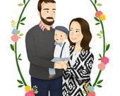 Illustration personnalisée Portrait de famille