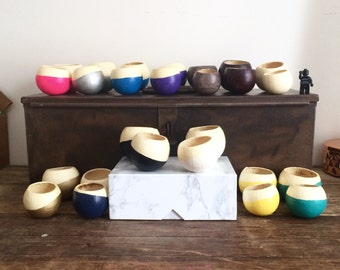 Mini planter / desk organizer / small desktop container / small planter / succulent pot / tiny catch-all bowl