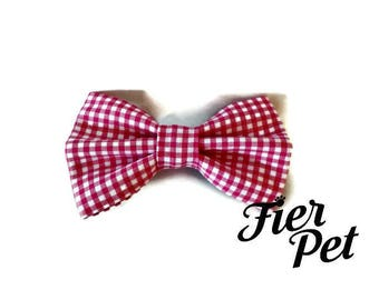 dog bowtie,Bow tie for dog collar,bowtie ,pink gingham,fier-pet,fierpet,large dog collar,dog accessories