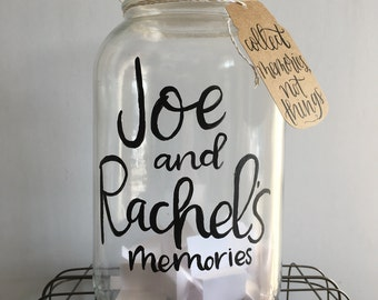 Memory Jar | New Year's Eve tradition | Collect memories, not things | gallon glass jar