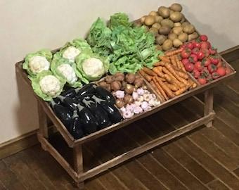 Handmade vegetable stand miniature 1:12 scale