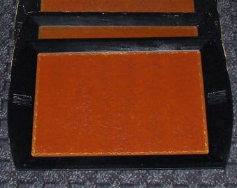 10 Serving Trays Leather & Wood Camfield Trays from Grand Haven MICH Awesome Deal