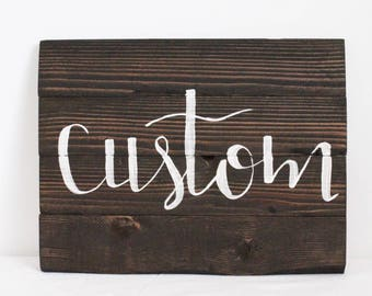 "Custom 9 1/2"" x 12 1/2"" college/school sign"