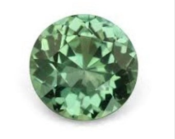 Natural Green Sapphire Round Diamond Cut (1.0mm - 3.0mm) Loose Gemstones