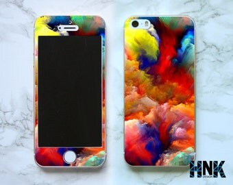 Iphone SE full skin / Iphone 5s decal / Iphone 5 decorative cover / color art case IS005
