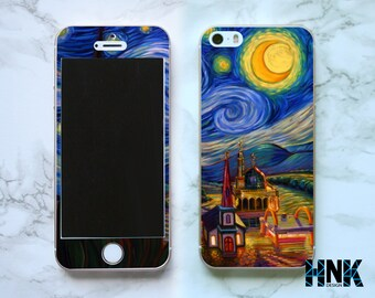 Iphone SE full skin / Iphone 5s decal / Iphone 5 decorative cover / expressionism painting case IS013