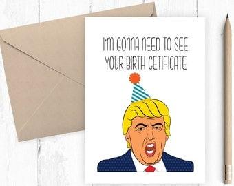political cards  etsy, Birthday card