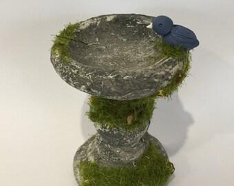 Miniature Concrete Bird Bath