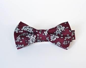 Rosewood Floral Pre-Tied Bow Ties
