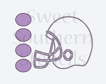 Football Helmet PYO Cookie Stencil