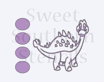 Dinosaur PYO Cookie Stencil