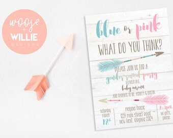 Gender Reveal Invitation, Pink or Blue Gender Reveal Party Invitation, Gender Reveal Invite, gender reveal, baby reveal