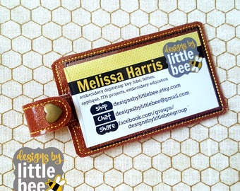 ID, gift card, photo holder snap tab design for 4x4 or 5x7 hoop - machine embroidery design - ITH in the hoop 05 19 2017