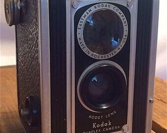 Vintage Kodak Duaflex Camera, 1st Version, with Kodet Lens by Eastman Kodak Company, c. 1940's