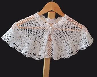 Crochet Pattern Communion Cape : Handmade Crochet Christening Shawl by HandCrochetByMaggie ...