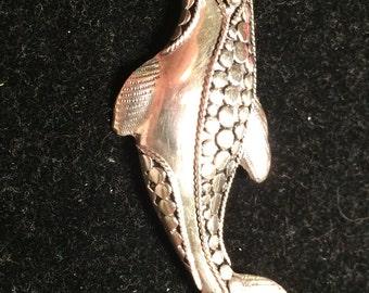 Vintage 925 sterling silver handcraft Donaphan brooch / pin