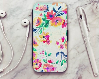 Floral iPhone 6 Wallet Case, Floral iPhone 6s Wallet Case, Floral iPhone 5s Wallet Case, Floral iPhone 7 Wallet Case, iPhone SE Wallet Case