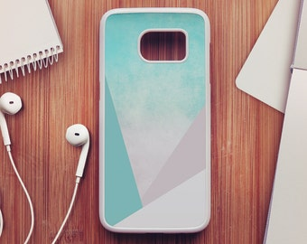 Turquoise Geometric Samsung Galaxy S7 Case, Geometric Samsung Galaxy S6 Case, Geometric Samsung Galaxy S5 Case, Samsung Galaxy S4 Case