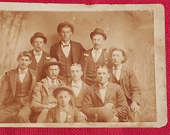 Cabinet Card Group/Gang of Men in Suits
