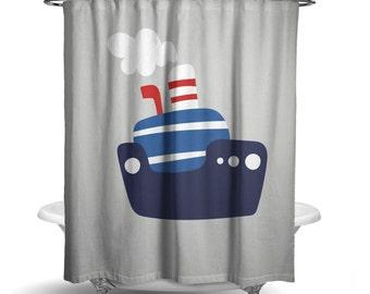 Boat shower curtain | Etsy
