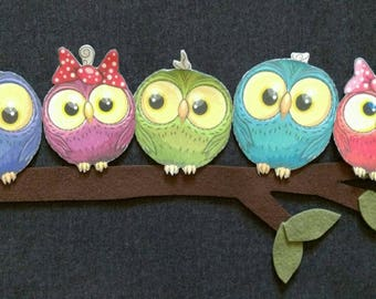 5 Little Owls Felt Story   // Flannel Board Story   // Preschool // Teacher Story // Counting // Pre K