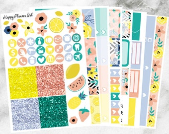 Sweet Summertime Deluxe Kit // 8 Page Weekly Kit made for the Erin Condren Life Planners