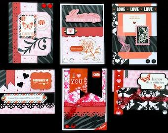 Valentine's Day Card kit, Premade Valentines Cards, Handmade Card Kit, Handmade Valentines Day Card Kit, Premade Love Cards, Hand Love Cards