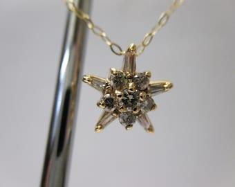 ITALIAN MADE 14K Yellow Gold Diamond Necklace .40 TCW