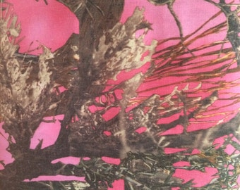 Pink Camouflage Fabric
