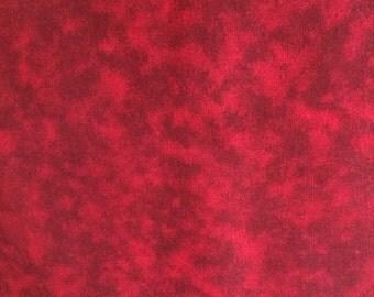 Dark Red Marbleized Print Fabric