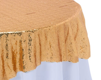 Champagne Sequin Overlay