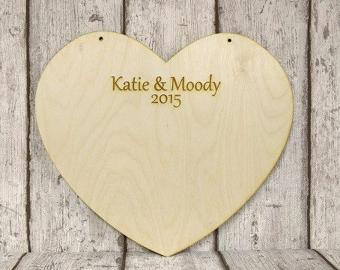 Large personalised Guestbook heart