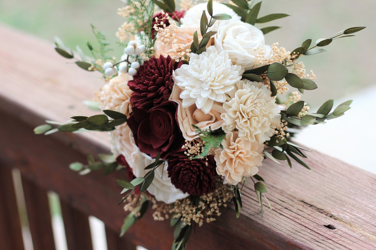 Sola Bouquet Wedding Bouquet Bridal Bouquet Marsala Blush